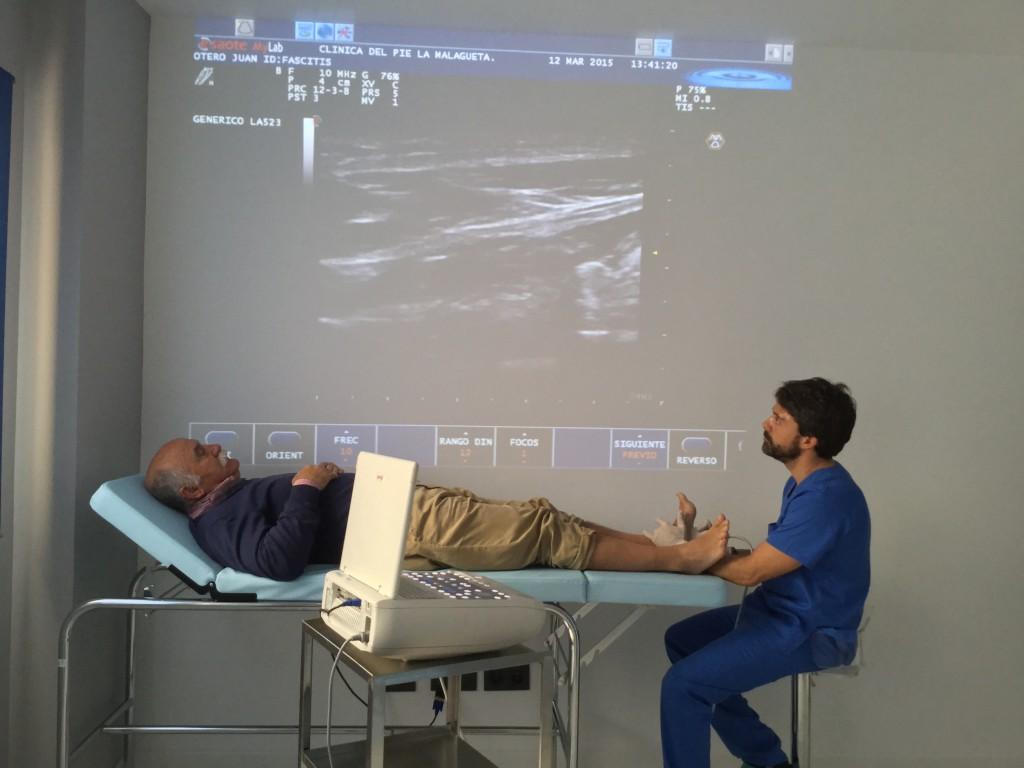 ecografia pie malaga podologo clinica del pie la malagueta